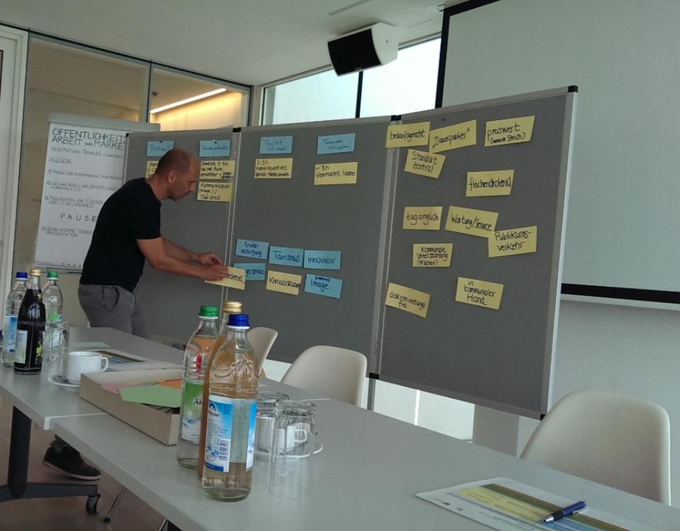 Pinnwand mit Schlagwörtern - Workshop 2