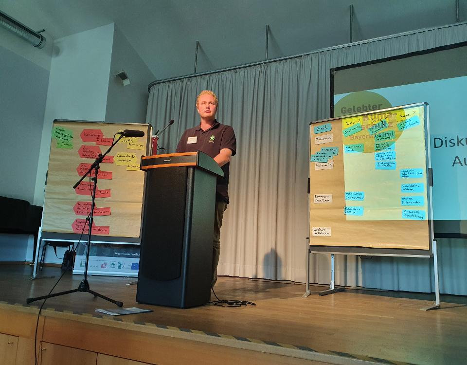 Josef Steingraber beim Vortrag