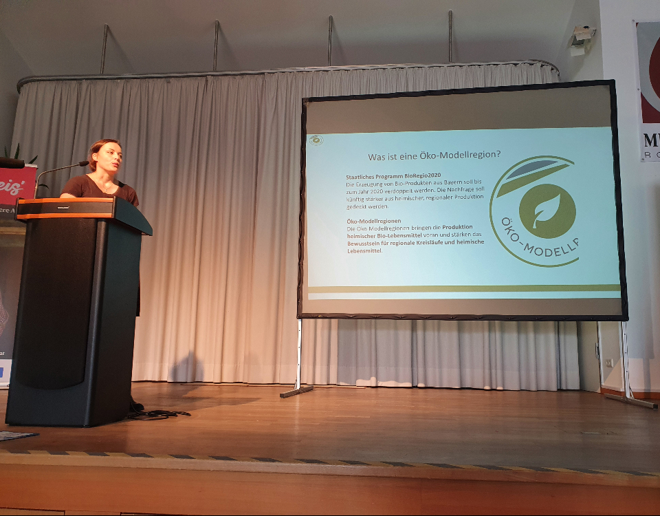 Irmi Prankl beim Vortrag