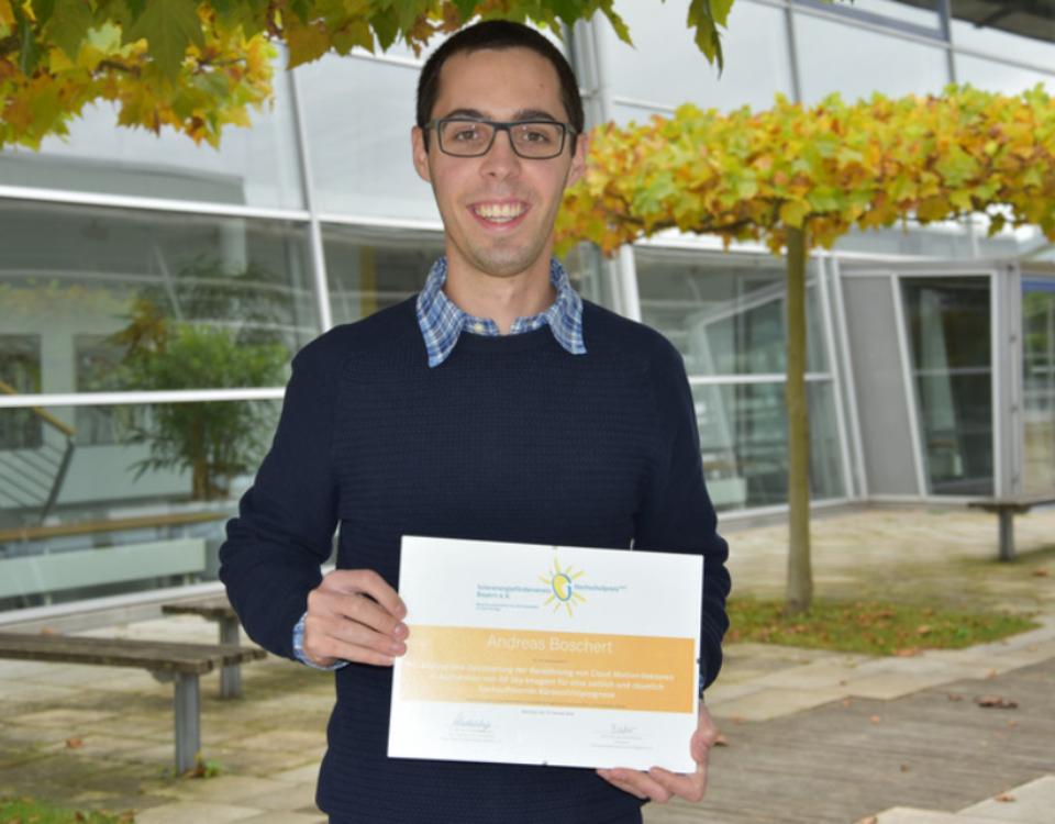 Andreas Boschert erhält Auszeichnung vom Solarenergieförderverein Bayern